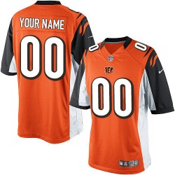 Nike Cincinnati Bengals Men's Customized Limited Orange Alternate Jersey