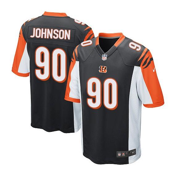 Cincinnati Bengals Michael Johnson Official Nike Black Game Adult Home NFL Jersey