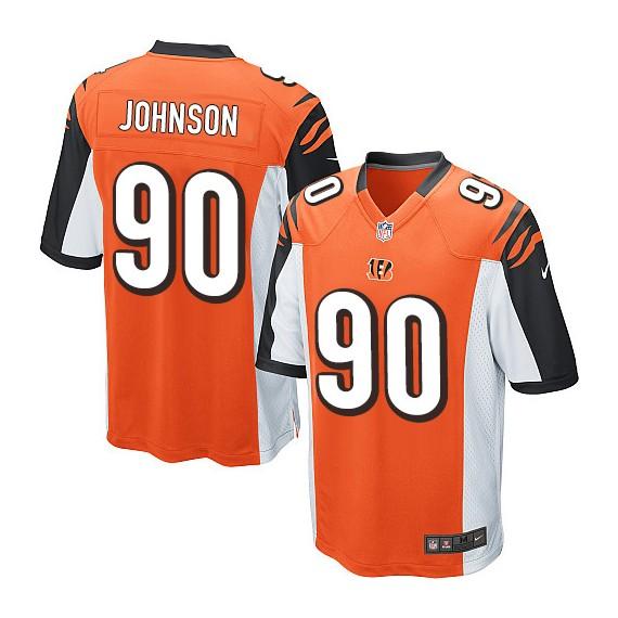 Cincinnati Bengals Michael Johnson Official Nike Orange Game Adult Alternate NFL Jersey