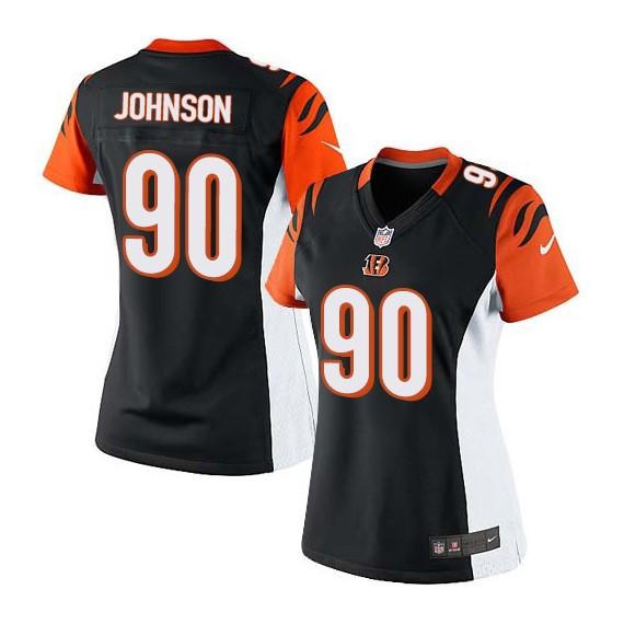 Cincinnati Bengals Michael Johnson Official Nike Black Limited Women's Home NFL Jersey
