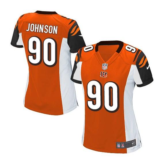 Cincinnati Bengals Michael Johnson Official Nike Orange Elite Women's Alternate NFL Jersey