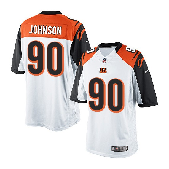 Cincinnati Bengals Michael Johnson Official Nike White Elite Youth Road NFL Jersey