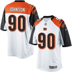 Cincinnati Bengals Michael Johnson Official Nike White Limited Youth Road NFL Jersey
