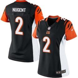 Cincinnati Bengals Mike Nugent Official Nike Black Elite Women's Home NFL Jersey