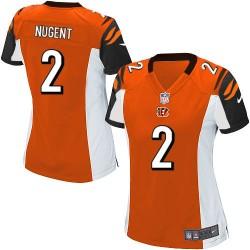 Cincinnati Bengals Mike Nugent Official Nike Orange Elite Women's Alternate NFL Jersey