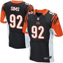 Cincinnati Bengals Pat Sims Official Nike Black Elite Adult Home NFL Jersey