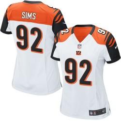 Cincinnati Bengals Pat Sims Official Nike White Game Women's Road NFL Jersey
