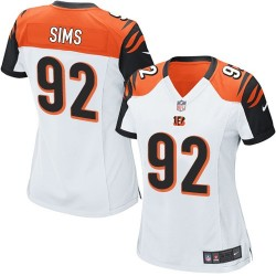 Cincinnati Bengals Pat Sims Official Nike White Limited Women's Road NFL Jersey