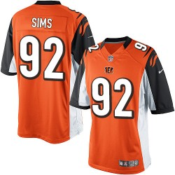 Cincinnati Bengals Pat Sims Official Nike Orange Limited Youth Alternate NFL Jersey