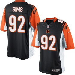 Cincinnati Bengals Pat Sims Official Nike Black Elite Youth Home NFL Jersey