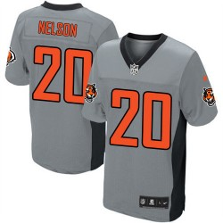 Cincinnati Bengals Reggie Nelson Official Nike Grey Shadow Elite Adult NFL Jersey