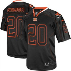 Cincinnati Bengals Reggie Nelson Official Nike Lights Out Black Elite Adult NFL Jersey
