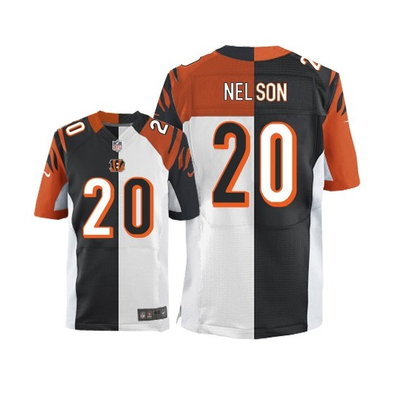 Cincinnati Bengals Reggie Nelson Official Nike Two Tone Limited Adult Team/Road NFL Jersey