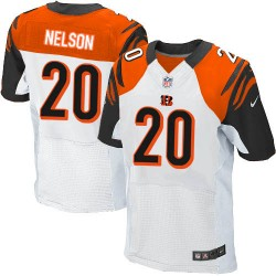Cincinnati Bengals Reggie Nelson Official Nike White Elite Adult Road NFL Jersey