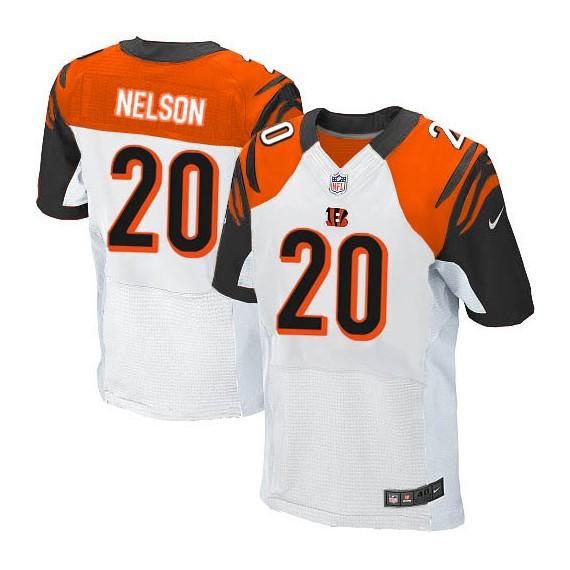 Cincinnati Bengals Reggie Nelson Official Nike White Elite Adult Road NFL Jersey