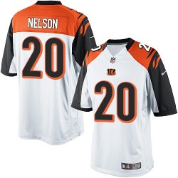 Cincinnati Bengals Reggie Nelson Official Nike White Limited Adult Road NFL Jersey