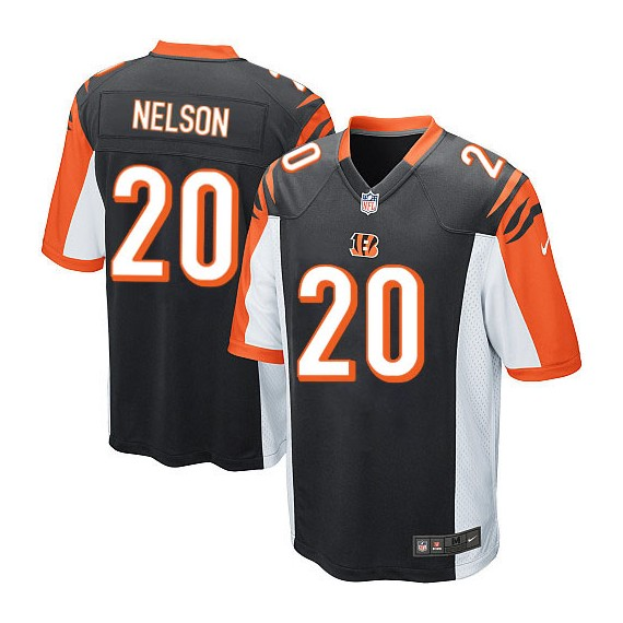 Cincinnati Bengals Reggie Nelson Official Nike Black Game Adult Home NFL Jersey