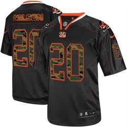 Cincinnati Bengals Reggie Nelson Official Nike Black Elite Adult Camo Fashion NFL Jersey