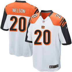 Cincinnati Bengals Reggie Nelson Official Nike White Game Adult Road NFL Jersey