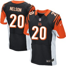Cincinnati Bengals Reggie Nelson Official Nike Black Elite Adult Home NFL Jersey
