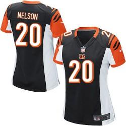 Cincinnati Bengals Reggie Nelson Official Nike Black Game Women's Home NFL Jersey