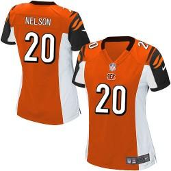 Cincinnati Bengals Reggie Nelson Official Nike Orange Game Women's Alternate NFL Jersey