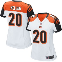 Cincinnati Bengals Reggie Nelson Official Nike White Game Women's Road NFL Jersey