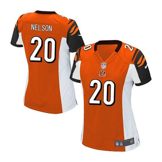 Cincinnati Bengals Reggie Nelson Official Nike Orange Limited Women's Alternate NFL Jersey