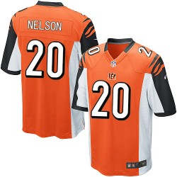 Cincinnati Bengals Reggie Nelson Official Nike Orange Elite Youth Alternate NFL Jersey