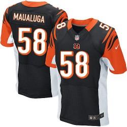 Cincinnati Bengals Rey Maualuga Official Nike Black Elite Adult Home NFL Jersey