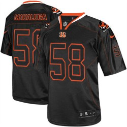 Cincinnati Bengals Rey Maualuga Official Nike Lights Out Black Elite Adult NFL Jersey
