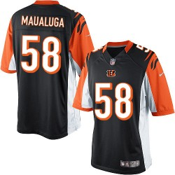 Cincinnati Bengals Rey Maualuga Official Nike Black Limited Adult Home NFL Jersey