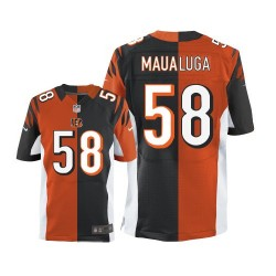 Cincinnati Bengals Rey Maualuga Official Nike Two Tone Elite Adult Team/Alternate NFL Jersey