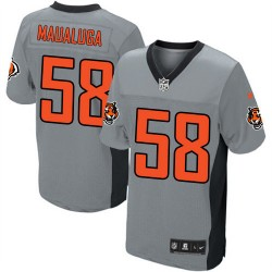 Cincinnati Bengals Rey Maualuga Official Nike Grey Shadow Limited Adult NFL Jersey