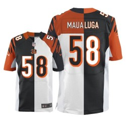 Cincinnati Bengals Rey Maualuga Official Nike Two Tone Elite Adult Team/Road NFL Jersey