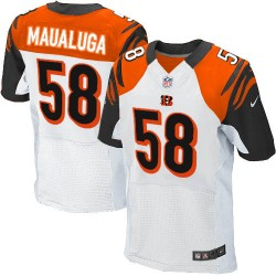 Cincinnati Bengals Rey Maualuga Official Nike White Elite Adult Road NFL Jersey