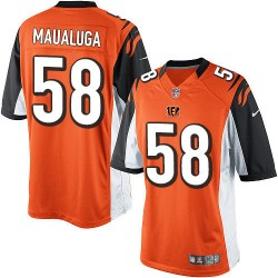 Cincinnati Bengals Rey Maualuga Official Nike Orange Limited Adult Alternate NFL Jersey