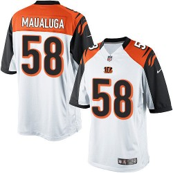 Cincinnati Bengals Rey Maualuga Official Nike White Limited Adult Road NFL Jersey