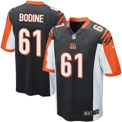 Cincinnati Bengals Russell Bodine Official Nike Black Game Adult Home NFL Jersey