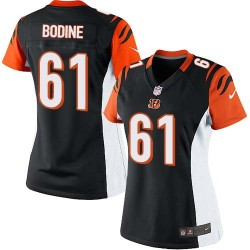 Cincinnati Bengals Russell Bodine Official Nike Black Elite Women's Home NFL Jersey
