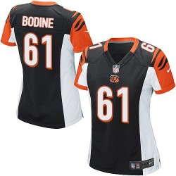 Cincinnati Bengals Russell Bodine Official Nike Black Game Women's Home NFL Jersey