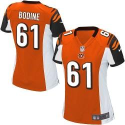 Cincinnati Bengals Russell Bodine Official Nike Orange Game Women's Alternate NFL Jersey