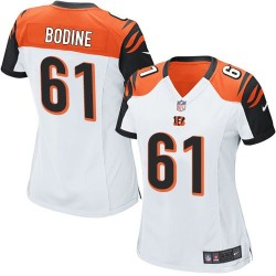 Cincinnati Bengals Russell Bodine Official Nike White Game Women's Road NFL Jersey