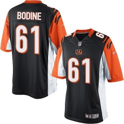 Cincinnati Bengals Russell Bodine Official Nike Black Elite Youth Home NFL Jersey