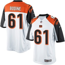 Cincinnati Bengals Russell Bodine Official Nike White Elite Youth Road NFL Jersey