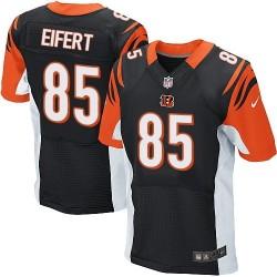 Cincinnati Bengals Tyler Eifert Official Nike Black Elite Adult Home NFL Jersey