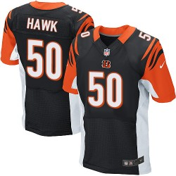 Cincinnati Bengals A.J. Hawk Official Nike Black Elite Adult Home NFL Jersey