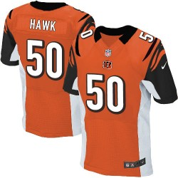 Cincinnati Bengals A.J. Hawk Official Nike Orange Elite Adult Alternate NFL Jersey