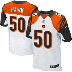 Cincinnati Bengals A.J. Hawk Official Nike White Elite Adult Road NFL Jersey