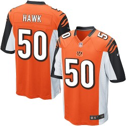 Cincinnati Bengals A.J. Hawk Official Nike Orange Game Adult Alternate NFL Jersey